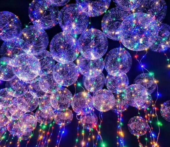 Globo Led luminoso de 18 pulgadas, guirnalda de luces globo con luz LED de 3M, globos de helio de burbuja redonda, globos de juguete para niños decoración para fiesta de boda SL7