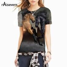 Raisevern 3D Horse Print T Shirt Men Women Unisex Summer Tops O Neck Short Sleeve Shirts Fashion 3D Clothes Drop Shipping