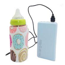 Calentador de agua y leche USB para cochecito de viaje, bolsa con aislamiento, calentador de biberones para lactancia de bebé