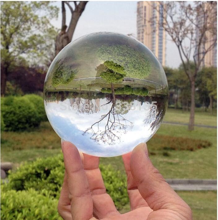 80mm raro claro asiático cuarzo Feng Shui bola de cristal Esfera de moda Decoración de mesa buena suerte bola caliente nuevo