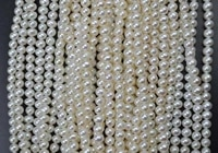 aa wholesale 4 5mm white freshwater pearl strands free shipping