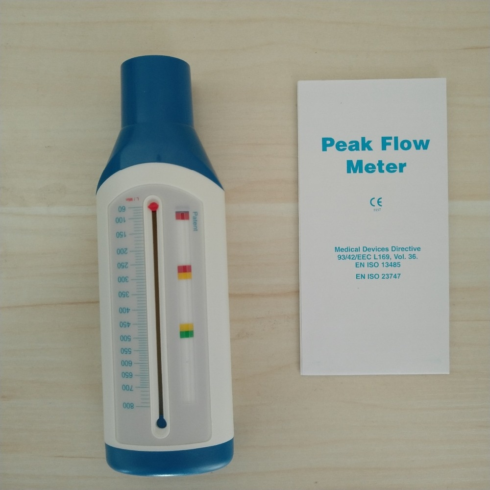 Portable PEF Adult / Children Spirometer Peak Speed Meter Expiratory Peak Flow Meter For Monitoring Lung Breathing Function