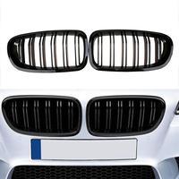Gloss Black Front Kidney Twin Fins Grille Auto Accessories for BMW Sedan F10 F11 F18 M5 2010-2016