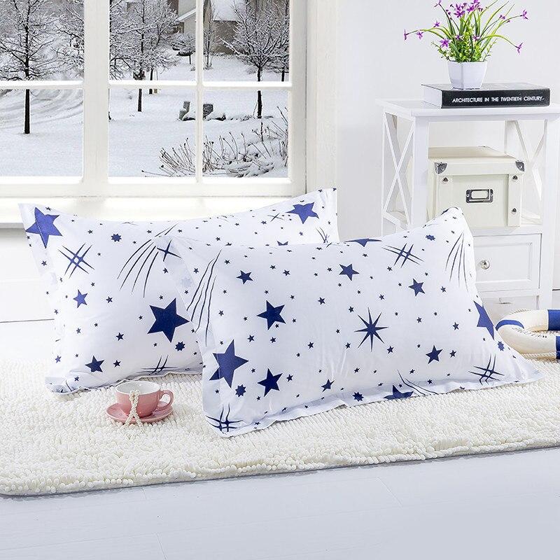 1 ud. Funda de cojín con forma de estrella de Color blanco y azul para dormitorio funda de almohada De 48cm x 74cm para niños y adultos XF340-22