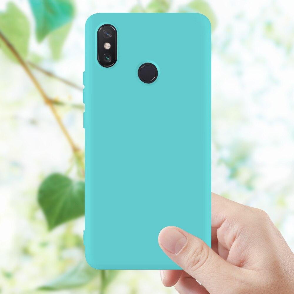Matte Soft TPU Case For Xiaomi Mi 8 Lite Max3 Mix 3 Mi A2 A1 6X 5X Pocophone F1 Mi6 Mi8 SE Play Sili
