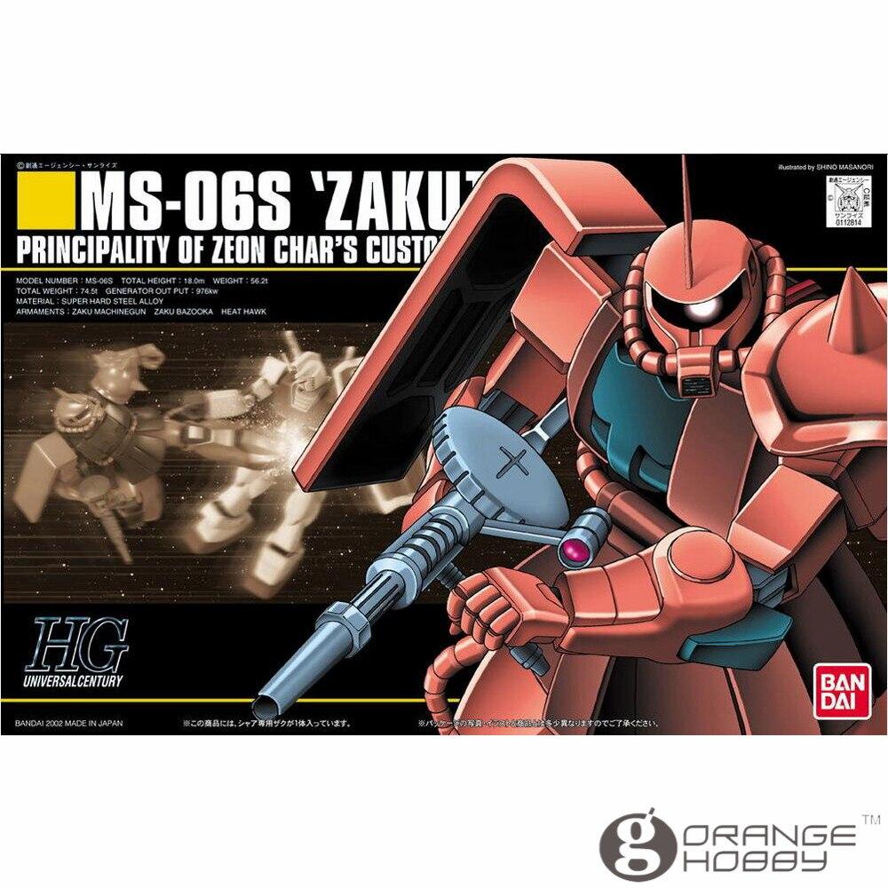 OHS Bandai HGUC 032 1/144 MS-06S Chars Zaku II Mobile Suit Assembly Model Kits