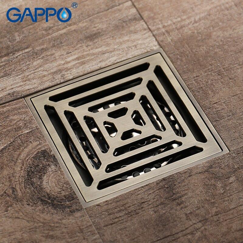 GAPPO-مصفاة دش مضادة للرائحة ، مصرف أرضي للحمام ، مصفاة دش