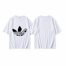 Marque imprimer femmes T shirt à manches courtes haut col en o Streetwear hommes Couple surdimensionné t-shirt Harajuku gothique t-shirts Vogue vêtements