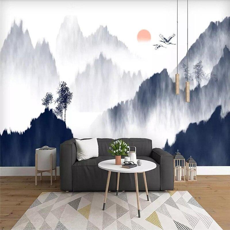 رسمت باليد المشهد الحبر حائط الخلفية المهنية إنتاج جدارية مصنع الجملة خلفيات جدارية المشارك الصورة جدار
