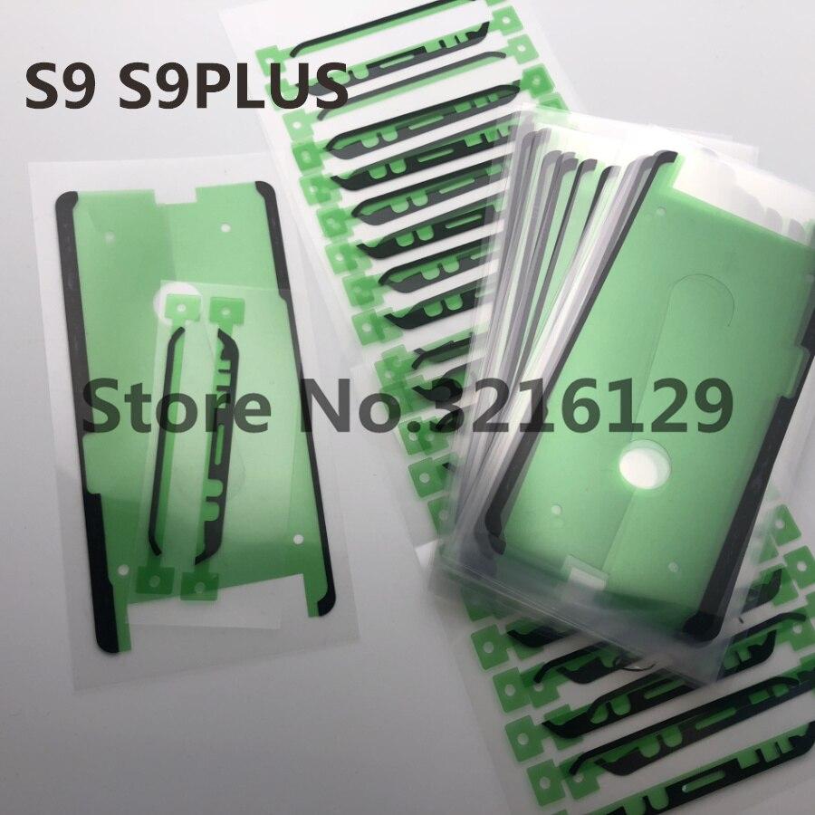 100 مجموعة الأصلي جديد لسامسونج غالاكسي S8 S9 s10 حافة زائد ملاحظة 8 9 10 20 LCD عرض شاشة إطار 3M ملصق لاصق الغراء الشريط