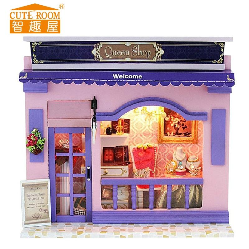 Подарочный кукольный домик Miniatura, деревянные кукольные дома, миниатюрный кукольный домик «сделай сам», Европейский уличный магазин, мебель, детский подарок, 2017