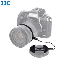 JJC support de capuchon dobjectif de caméra en cuir véritable pince de gardien pour Canon E-49/E-52II/E-55/casquettes de E-58II