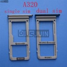 1 Uds nueva ranura para bandeja para una tarjeta SIM Dual SIM para Samsung Galaxy A320 A3 2017