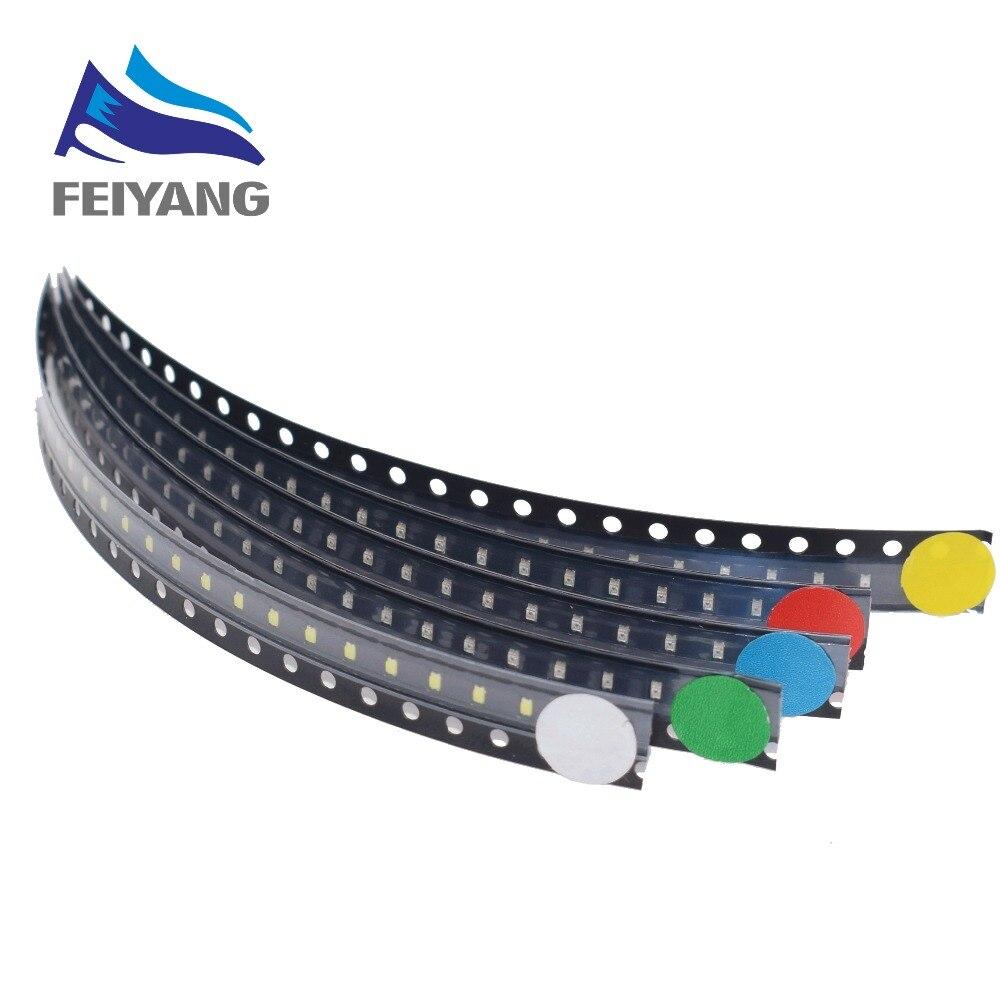 500 uds/Lote 5 colores 0603 SMD Led cada uno 100 Uds Super brillante rojo/verde/azul/amarillo/blanco agua claro diodo de luz LED