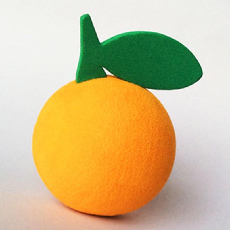 Adorable Bola de antena de dibujos animados naranja con hoja verde fruta Adorable goma EVA decoración para techo de estilo de coche ornamento