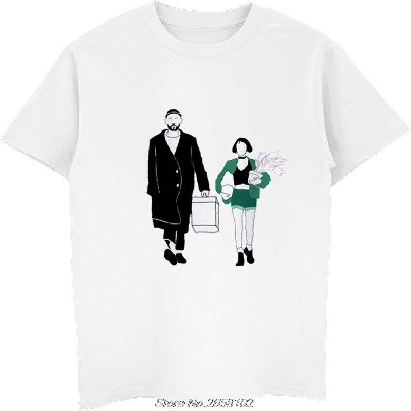 Camiseta leon the professional para hombre, camiseta a la moda, camiseta blanca de cuello redondo para hombre, Top Tees harajuku streetwear