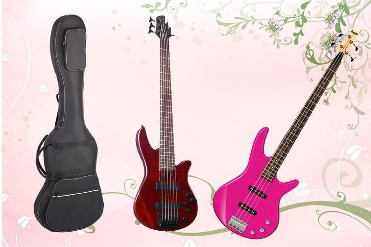 Профессиональный электрический чехол для бас-гитары gig bag, рюкзак, держатель для транспортировки, толстый ударопрочный водонепроницаемый и...