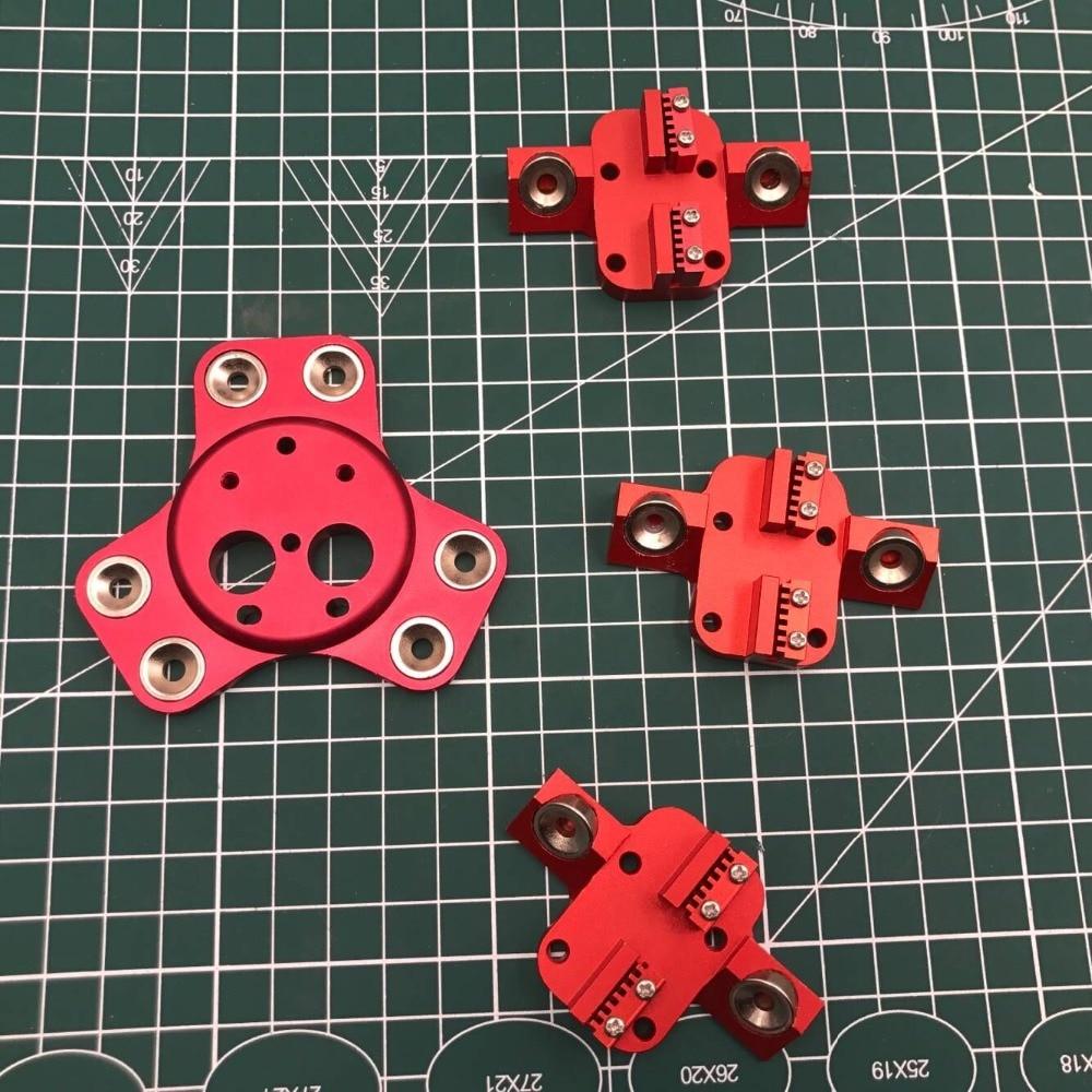 Delta Kossel k800 Dual kit Para DIY Quimera efetoras + transporte de metal magnético/Cyclops final quente cor Vermelho anodizado