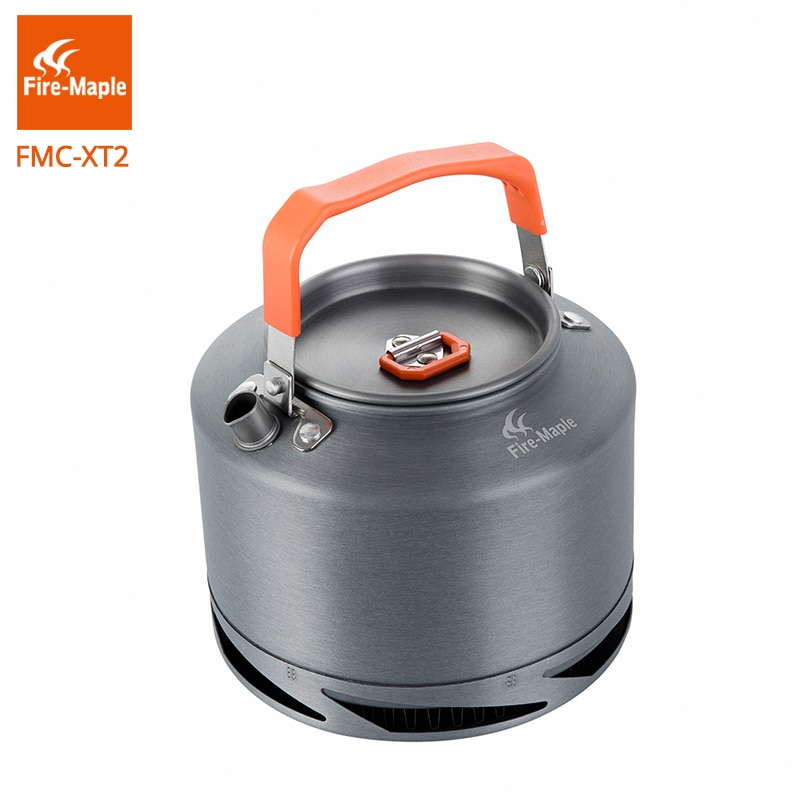 Fire Maple Hiking Kettle Outdoor Camping Cookware Heat Exchange Pinic Kettle Tea Coffee Pot 1.5L With Filter FMC-XT2 fire maple чайник fire maple feast xt2