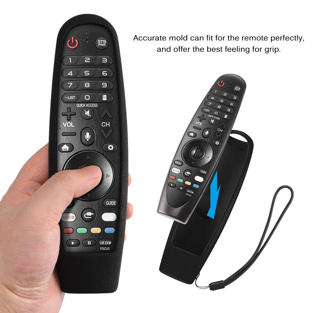 Funda de Control de TV para LG AN-MR650 AN-MR600, fundas mágicas de Control remoto, Fundas protectoras de TV de silicona a prueba de golpes lavables