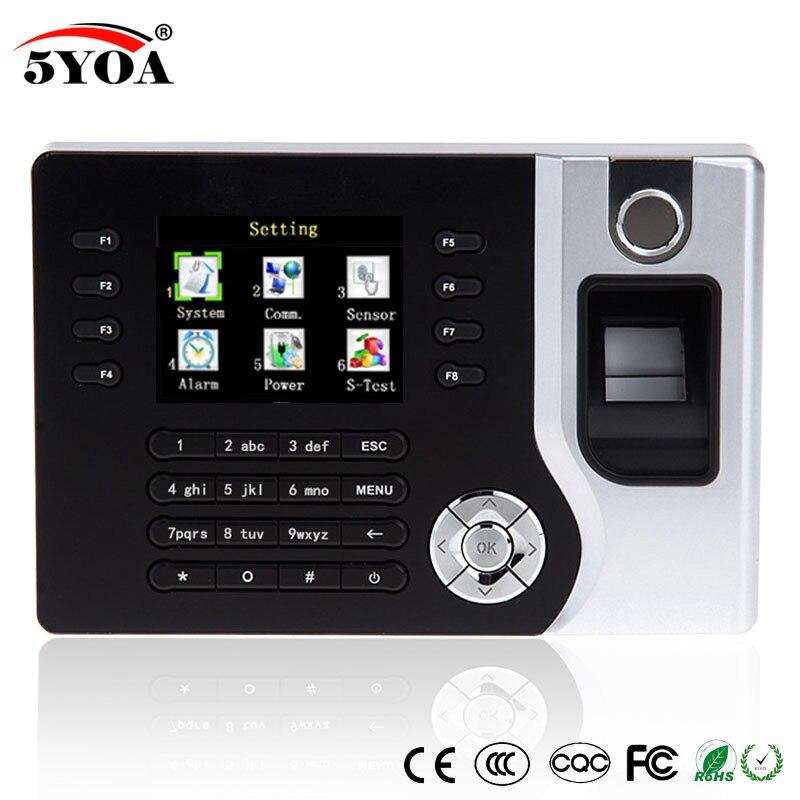 TCP IP биометрический сканер отпечатков пальцев, устройство распознавания времени, часы, рекордер, электронный считыватель на английском языке, USB rfid-карта