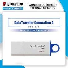 Kingston USB Flash Drives 32GB USB 3.0 8GB 16GB PenDrives 64GB 128GB DataTraveler G4 Plastic Pratical Cap Pen Drives Memory Disk