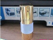 15 ml gefrostet airless flasche mit UV gold pumpe und boden, lotion flasche für Kosmetische Container