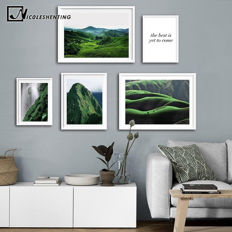 Escandinavo cartaz de paisagem nórdico impressão inverno montanha paisagem arte da parede pintura em tela natureza imagem moderna decoração para casa