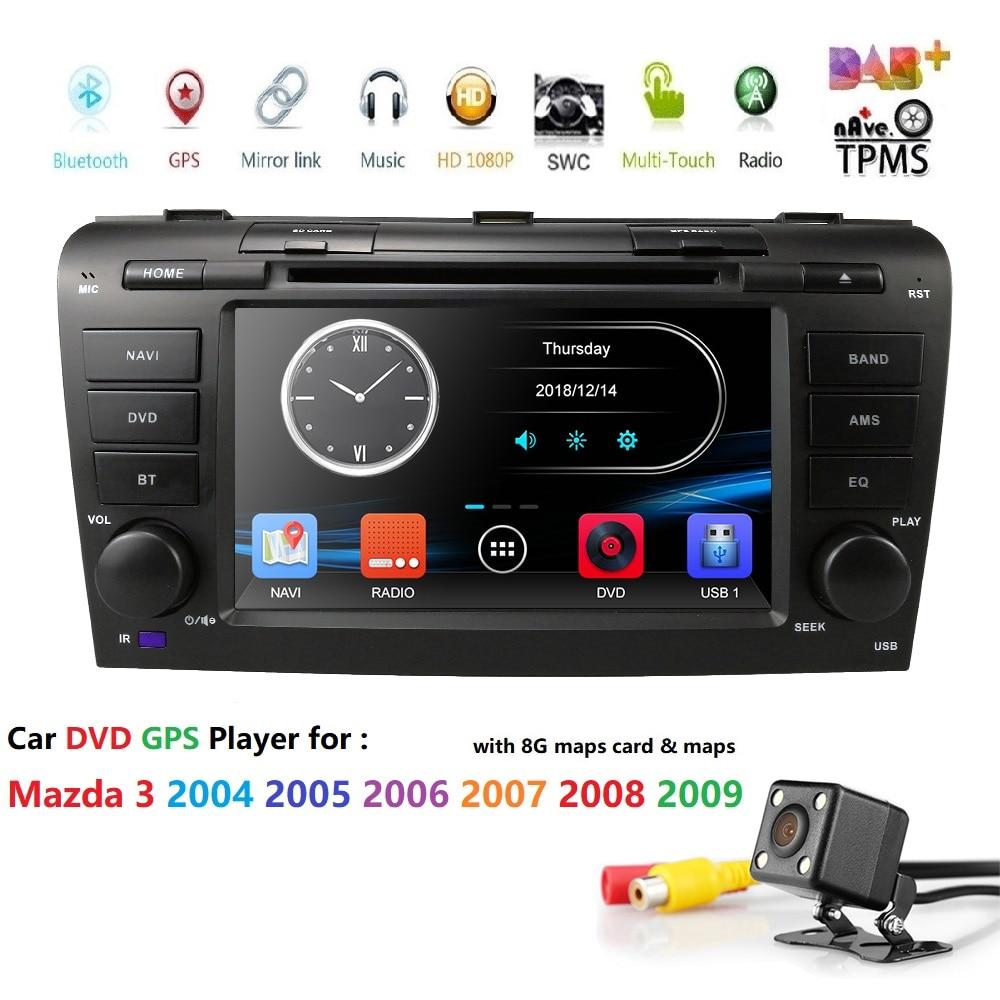 Reproductor estéreo de DVD para coche de 7 pulgadas para MAZDA3 MAZDA 3 2004 2005 2006 2007 2008 2009 navegación GPS Bluetooth SD RDS pantalla táctil