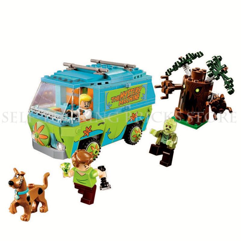 Mailackers 10430 лесной Приключения Legoing Скуби Ду тайна машина автобус строительные