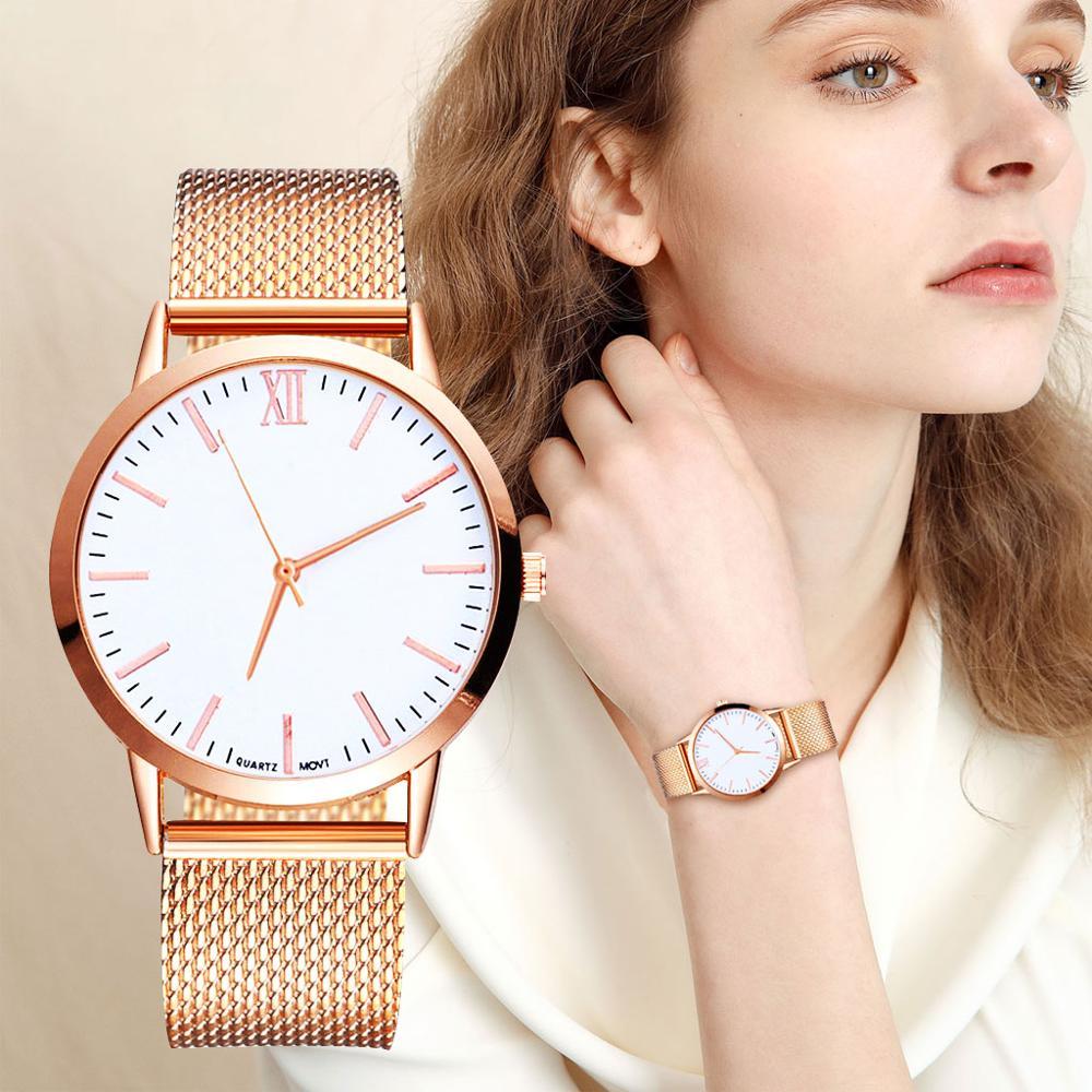 Reloj femenino zegarek damski de lujo para mujer, reloj de vestir, pulsera de moda 2019, correa de malla de Gel de sílice, relojes informales Geneva
