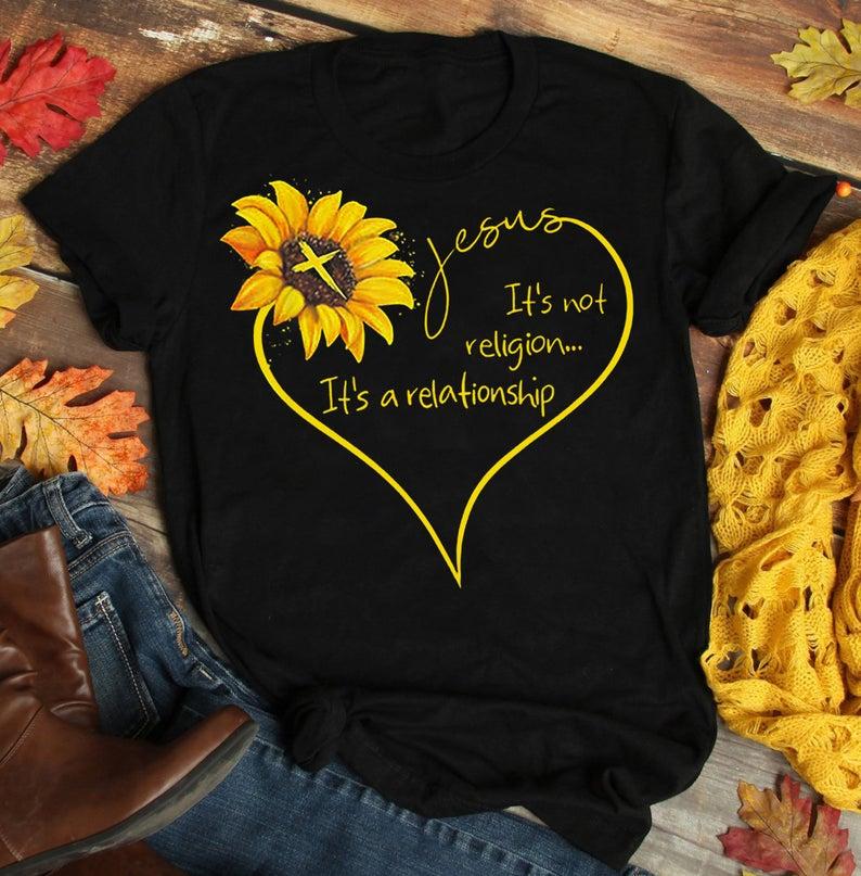 Sunfiz girassol jesus camisa de algodão preto camisa das senhoras dos desenhos animados t camisa dos homens unissex nova moda tshirt frete grátis engraçado topos