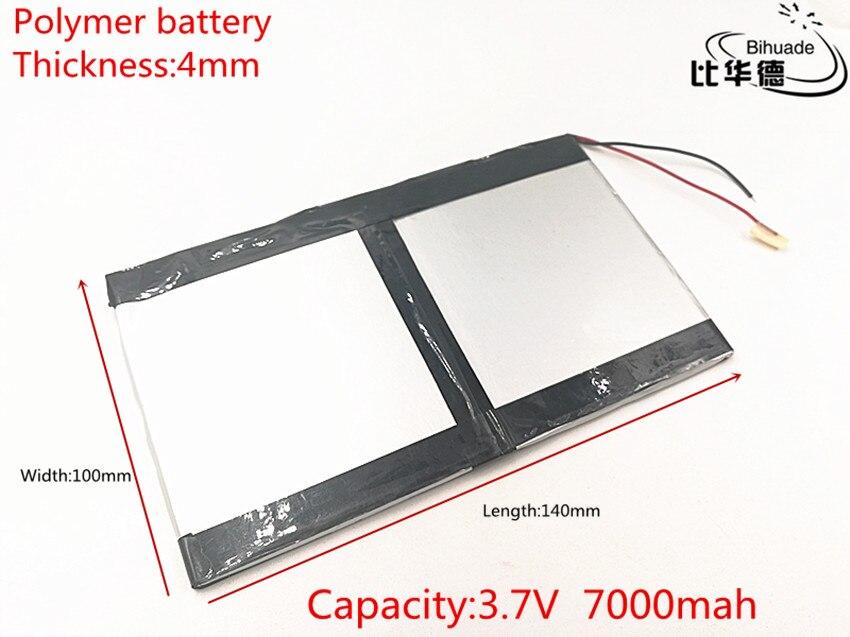 1 unids/lote 3,7 V, 7000mAH (batería de polímero de iones de litio) batería de iones de litio para tableta pc 7 pulgadas 8 pulgadas 9 pulgadas 40100140