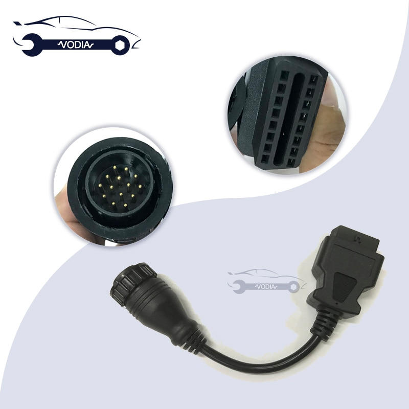 9993832 Cable de diagnóstico de 14 pines para equipos de construcción de Vocom OBD2 Cable de diagnóstico para adaptador de herramienta de diagnóstico de camión Vocom