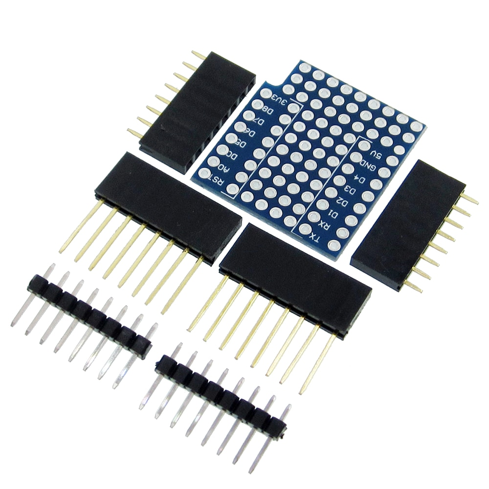 (D19) II escudo para WeMos D1 mini doble cara perf Junta Compatible