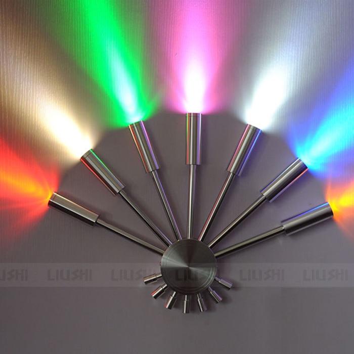 Luces de pared de dormitorio con forma de ventilador LED de aluminio de colores modernos