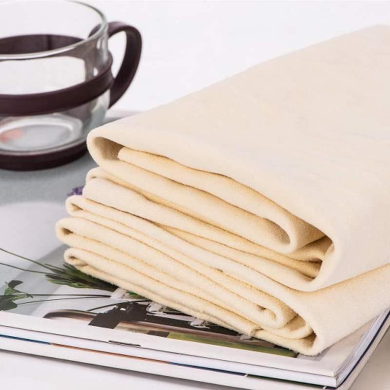 1Pc Multipurpose Deer Leather Towel Car Cleaning Wipe Towel Tableware Dry Water Cloth Pet Absorbent Towel Tool 2021 New Hot Sale