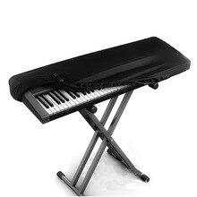Housse noire pour orgue de Piano électronique   88 clés, tissu souple élastique avec cordon de serrage, fermoir Anti-poussière pour Piano électrique FC137