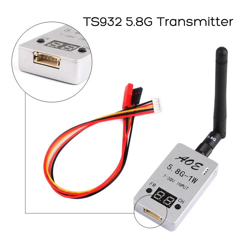 5.8g 1000 mw 1 w wirless áudio vídeo av ts932 transmissor para multicopter carro backview sistema de vídeo wi fi foto aérea