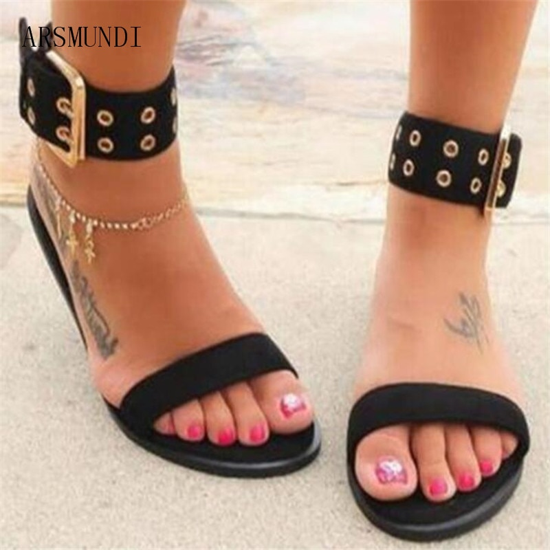 ARSMUNDI Women Sandals Transparent Flats Shoes Large Size Female Clear Jelly Shoes Ladies Roman 2019 Beach Sandalias Mujer M724