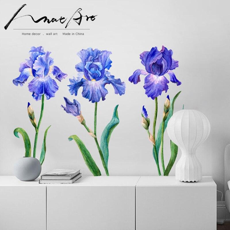 Pintura de iris decoración de pared arte flores acuarela cuadro decorativo decoración de dormitorio moderno nórdico decoración del hogar Accesorios diy