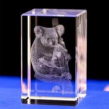 Cute koala Crystal night Light Lovelty Night Lamp with light base Amazing Led Light Lamp For kids Room