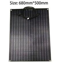Livraison gratuite panneau solaire 12V ETFE Film revêtement Semi Flexible panneau solaire cellule solaire module solaire pour voiture RV bateau batterie