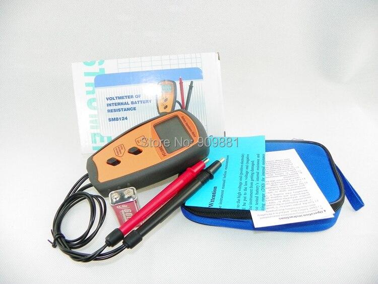 SM8124 импедансный измеритель заряда батареи, вольтметр 200 в, тестер низкого напряжения