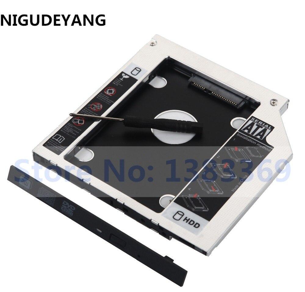 Disco Duro HDD NIGUDEYANG SATA 2ª SSD, Marco Caddy, adaptador para Lenovo IdeaPad 100-15IBY 300-17ISK
