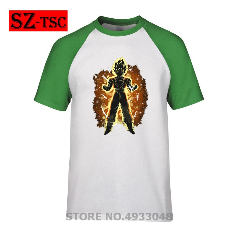 El Saiyan Dragon Ball Z Camisa hombres Harajuku Camisetas estampadas camisetas 2019 hombres camiseta Camisa de manga corta de algodón camiseta #043