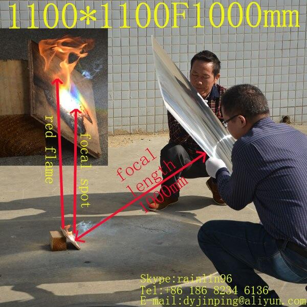 Большой размер 1100*1100 мм фокусное расстояние 1000 мм линза Френеля полный шаг канавки с 4 углами Солнечный концентратор линза солнечная энерги...