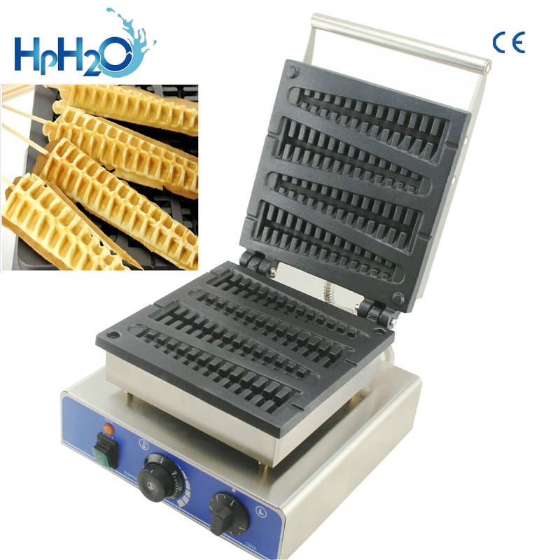 110v 220v commercial french muffin machine hot dog corn shape lolly wafer waffle makers kitchen machine eu au uk us plug Directly factory price CE approved 110V/220V commercial  4pcs Lolly Waffle Maker Custom Plate and stick waffle maker machine