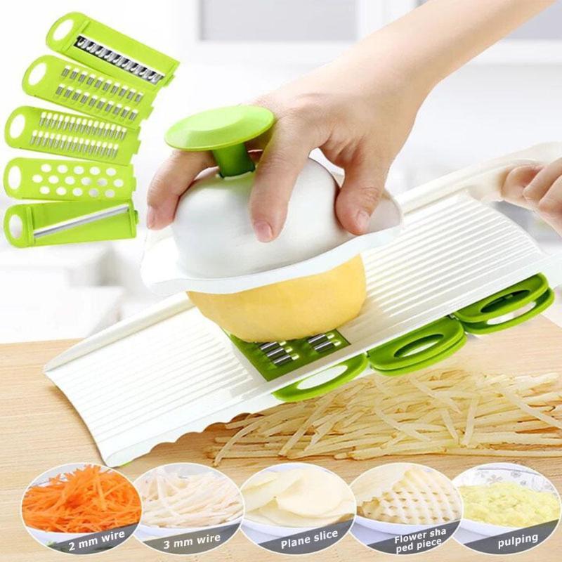 Cortador de verduras multifunción de 28x11x3cm, utensilios de cocina, rallador rebanador de mandolina para accesorios para verduras, herramientas de patata y zanahoria