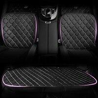 Diamond Crystal PU Leather Car Seat Cushion Woman Universal Size Auto Front Seat Pads Rhinestone Rear Back Seat Covers